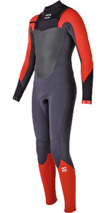 Billabong Junior Absolute Comp 4/3mm Chest Zip GBS Wetsuit ORANGE H44B07