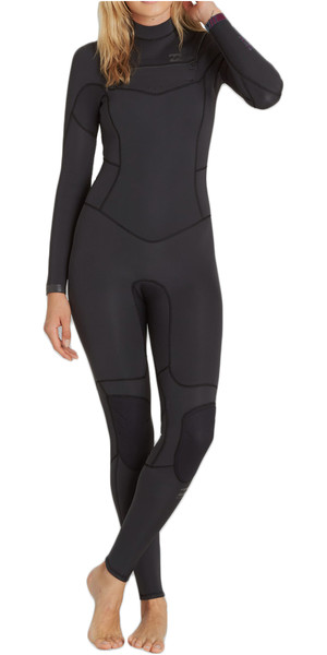 2018 Billabong Ladies 5/4mm Synergy Chest Zip Wetsuit BLACK SANDS F45G11