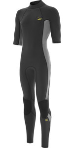 2021 Billabong Mens Absolute 2mm Flatlock Short Sleeve Back Zip Wetsuit W42M70 - Charcoal