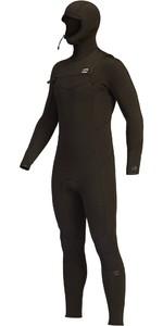 2021 Billabong Mens Absolute 5/4mm Hooded GBS Chest Zip Wetsuit Z45M19 - Black Hash