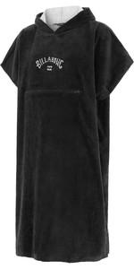 2021 Billabong Mens Change Robe / Poncho W4BR85 - Black
