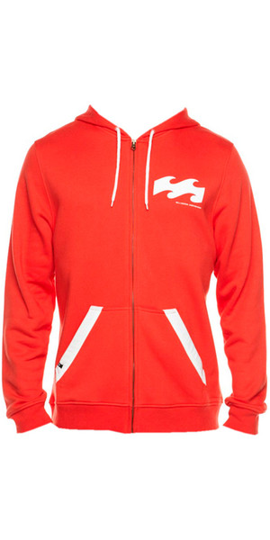 Billabong B-Board Zip Hoody in Red Fire L4HO01