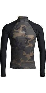 2020 Billabong Contrast Long Sleeve Rash Vest S4MY14 - Camo