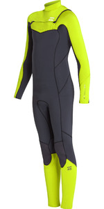 2019 Billabong Junior Boys Furnace Absolute 3/2mm Chest Zip Wetsuit Neon Yellow N43B06
