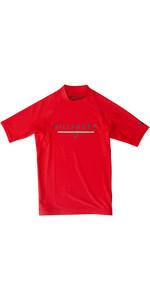 2019 Billabong Junior Boys Unity Short Sleeve Rash Vest Red N4KY07