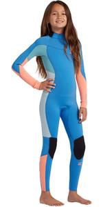 2021 Billabong Junior Girls Synergy 3/2mm Back Zip Wetsuit W43B61 - Maui Blue