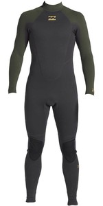 2020 Billabong Junior Intruder 4/3mm Back Zip GBS Wetsuit 044B18 - Antique Black