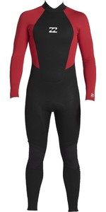 2020 Billabong Junior Intruder 4/3mm Back Zip GBS Wetsuit 044B18 - Red