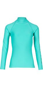 Billabong Womens Logo Long Sleeve Rash Vest POOL BLUE H4GY02