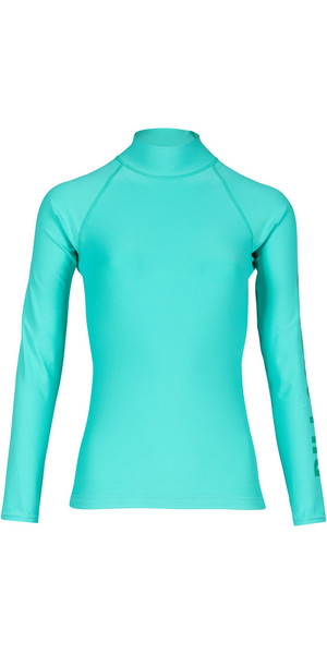 2018 Billabong Womens Logo Long Sleeve Rash Vest POOL BLUE H4GY02