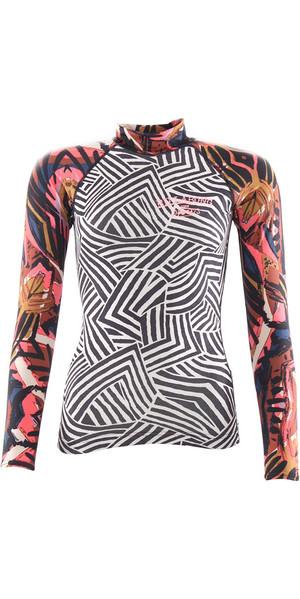 2018 Billabong Womens Surf Capsule Long Sleeve Rash Vest MULTI H4GY06