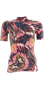 Billabong Womens Surf Capsule Short Sleeve Rash Vest TRIBAL H4GY05