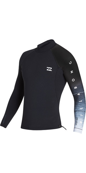 2019 Billabong Mens 1mm Pro Series LS Neo Jacket Black Fade N41M01