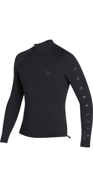 2019 Billabong Mens 1mm Pro Series LS Neo Jacket Black N41M01