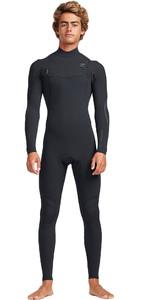 2019 Billabong Mens 2mm Carbon Comp Chest Zip Wetsuit Black N42M06