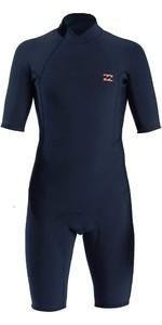 2021 Billabong Mens Absolute 2mm Back Zip Shorty Wetsuit W42M72 - Slate Blue