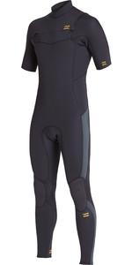 2020 Billabong Mens Absolute 2mm Chest Zip Short Sleeve GBS Wetsuit S42M65 - Antique Black