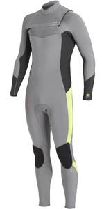 2020 Billabong Mens Absolute 5/4mm Chest Zip GBS Wetsuit U45M58 - Grey