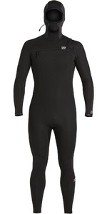 2020 Billabong Mens Absolute 5/4mm Chest Zip Hooded Wetsuit U45M59 - Black