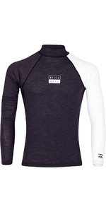 2019 Billabong Mens Contrast Long Sleeve Rash Vest Black Heather N4MY08
