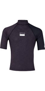 2019 Billabong Mens Contrast Short Sleeve Rash Vest Black Heather N4MY04
