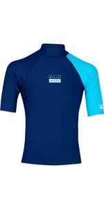 2019 Billabong Mens Contrast Short Sleeve Rash Vest Navy N4MY04