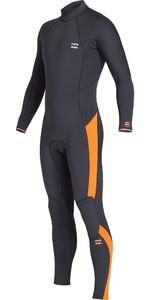2019 Billabong Mens Furnace Absolute 3/2mm Back Zip Wetsuit Black Sand Q43M09