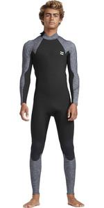 2019 Billabong Mens 4/3mm Furnace Absolute Back Zip GBS Wetsuit Grey Heather N44M35