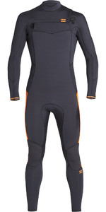 2019 Billabong Mens Furnace Absolute 3/2mm Chest Zip Wetsuit Black Sand Q43M08