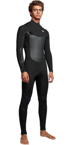 2019 Billabong Mens Furnace Absolute X 5/4mm Chest Zip Wetsuit Black Q45M07
