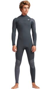 2019 Billabong Mens 3/2mm Furnace Carbon Comp Chest Zip Wetsuit Black Sands N43M02