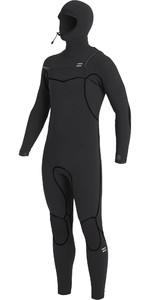 2020 Billabong Mens Furnace 5/4mm Chest Zip Hooded Wetsuit U45M52 - Black