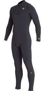 2019 Billabong Mens Furnace Comp 4/3mm Chest Zip Wetsuit Black Q44M03