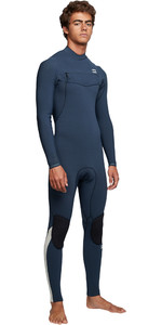 2019 Billabong Mens Furnace Comp 3/2mm Chest Zip Wetsuit Blue Q43M03