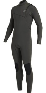 2021 Billabong Mens Furnace Natural 4/3mm Zipperless Wetsuit U44M50 - Black Moss
