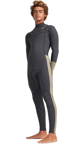 2019 Billabong Mens 3/2mm Furnace Revolution Chest Zip Wetsuit Black Sands N43M04