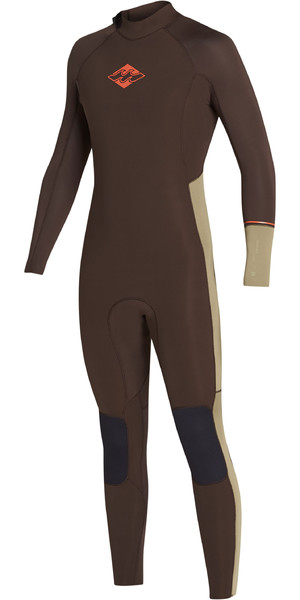 2019 Billabong Mens 3/2mm Furnace Revolution Ninja Zip Wetsuit Olive N43M31