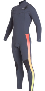 2019 Billabong Mens Furnace Revolution Pro 3/2mm Chest Zip Wetsuit Faded Q43M80