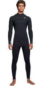2019 Billabong Mens Furnace Ultra 5/4mm Chest Zip Wetsuit Black Q45M02