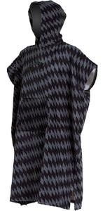 2020 Billabong Mens Hooded Poncho Change Towel S4BR53 - Grey Diamonds