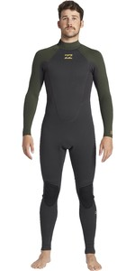 2020 Billabong Mens Intruder 5/4mm Back Zip GBS Wetsuit 045M18 - Antique Black