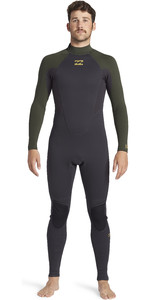 2021 Billabong Mens Intruder 4/3mm Back Zip GBS Wetsuit 044M18 - Antique Black