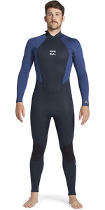 2021 Billabong Mens Intruder 4/3mm Back Zip GBS Wetsuit 044M18 - Navy