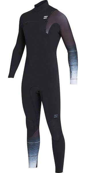 2019 Billabong Mens 3/2mm Pro Series Chest Zip Wetsuit Black / Fade N43M01