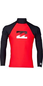 2019 Billabong Mens Team Wave Long Sleeve Rash Vest Red N4MY07