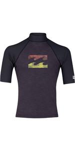 2019 Billabong Mens Team Wave Short Sleeve Rash Vest Black Heather N4MY02