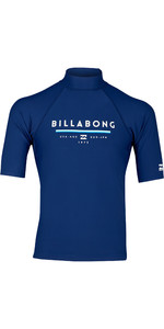 2019 Billabong Mens Unity Short Sleeve Rash Vest Navy N4MY01