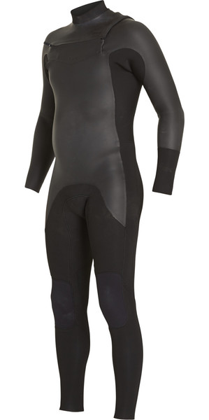 2018 Billabong Revolution 5/4mm Glide Skin Chest Zip Wetsuit BLACK F45M19