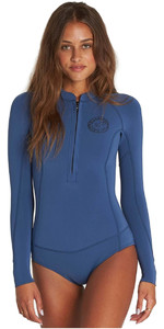 2018 Billabong Womens Salty Daze 2mm Long Sleeve Spring Shorty Wetsuit SEASIDE H42G03