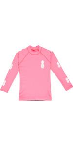 2019 Billabong Toddler Logo Long Sleeve Rash Vest Tahiti Pink N4TY03